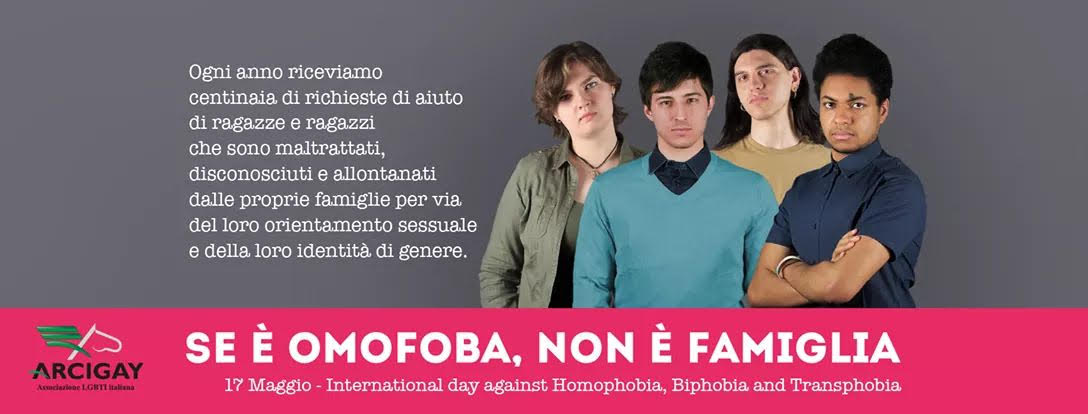 DOMANI L'ARCIGAY DI SIRACUSA CELEBRA LA GIORNATA INTERNAZIONALE CONTRO L'OMOFOBIA