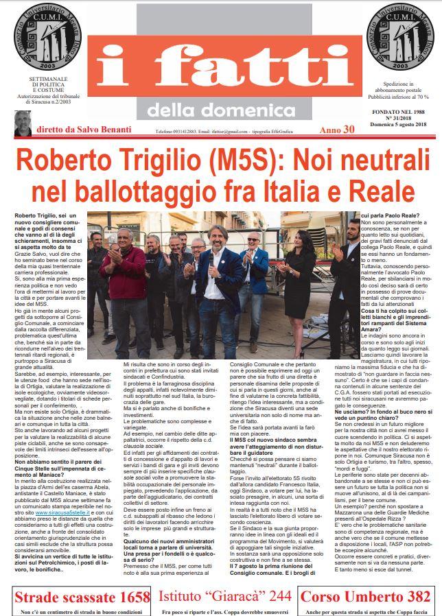 Settimanale I Fatti 04-08-2018