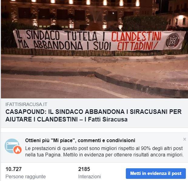 PERCHE' OLTRE 10MILA PERSONE LEGGONO IL POST DI CASAPOUND?