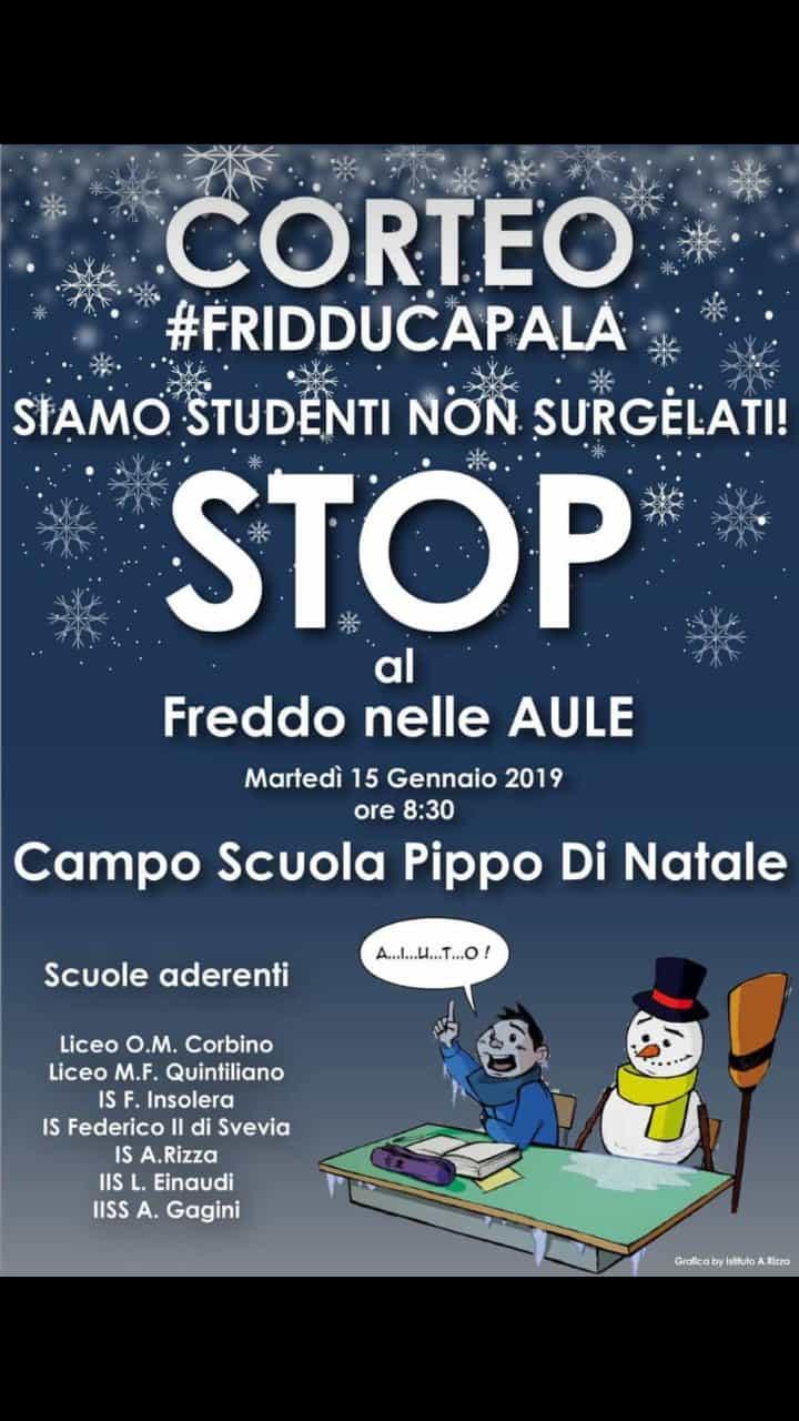 STUDENTI AL FREDDO / DOMANI CORTEO DI PROTESTA. COLPEVOLE SILENZIO DI FLORENO E ITALIA