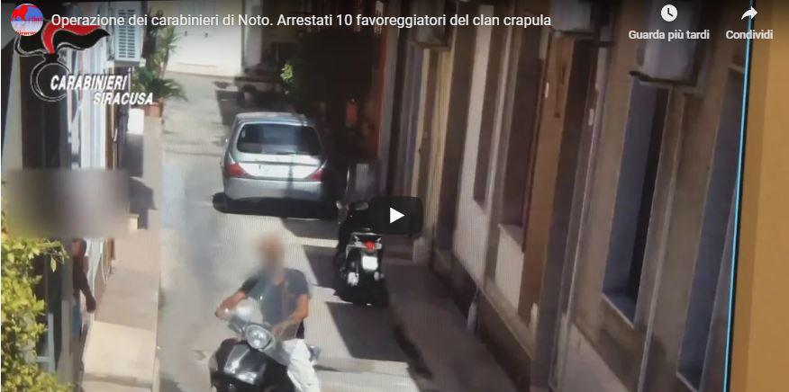 OPERAZIONE DEI CARABINIERI DI NOTO / ARRESTATI 10 FAVOREGGIATORI DEL CLAN CRAPULA (VIDEO)