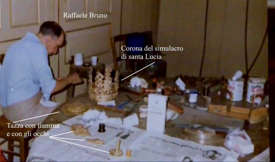 BENITO APRILE RACCONTA IL RESTAURO DEL 1982 SUL SIMULACRO DI SANTA LUCIA AD OPERA DEL MAESTRO ORAFO RAFFAELE BRUNO