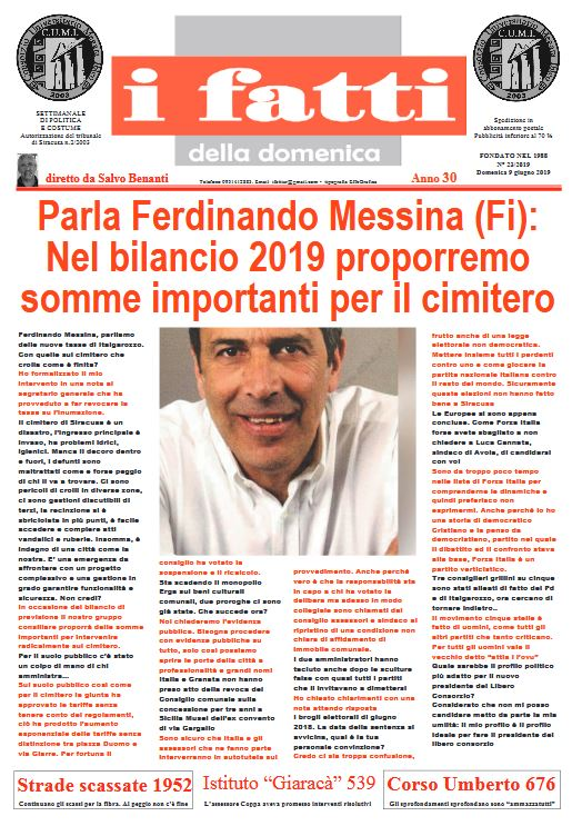 Settimanale I Fatti 08-06-2019