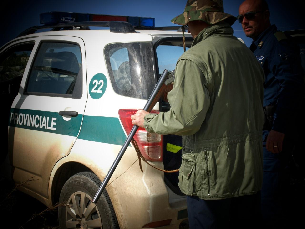 SANZIONI DELLA POLIZIA PROVINCIALE PER CACCIA IN ZONA VIETATA
