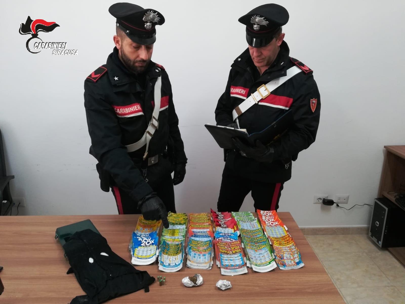 AVEVANO DROGA, GRATTA E VINCI E UN REGISTRATORE DI CASSA, DENUNCIATI TRE GIOVANI